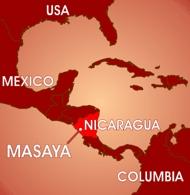 Map showing Masaya, Nicaragua