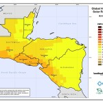 Solar map of Central America