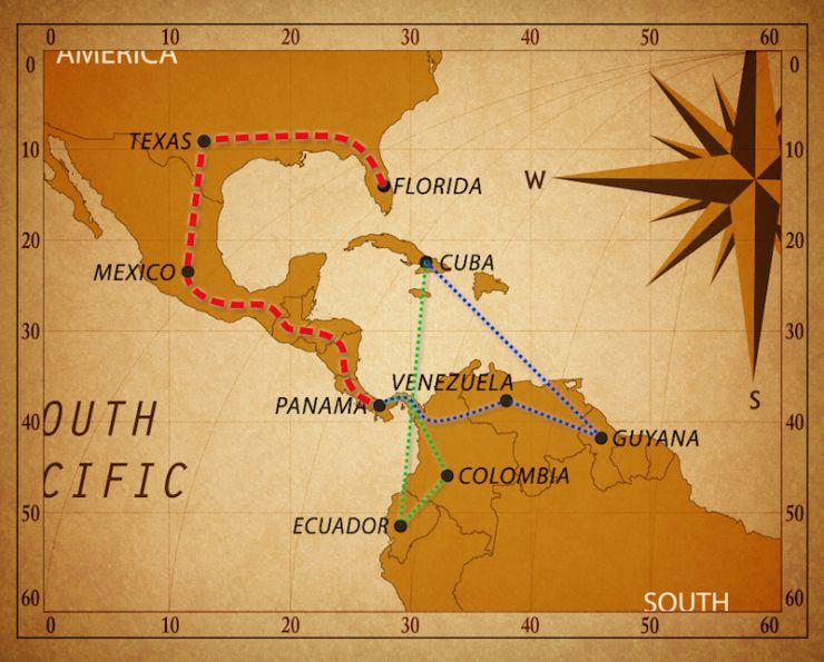 cuba migrants map