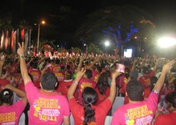 Nicaragua 2011 election rally