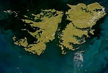 Map of the Malvinas, Falkland Islands