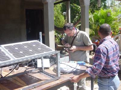 Solar panel installation, Proyecto Sol