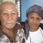 'Fernandez' with his wife (he died in 2011)