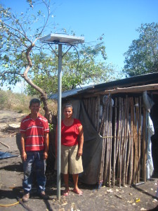 Solar panel installed for a family near Malacatoya