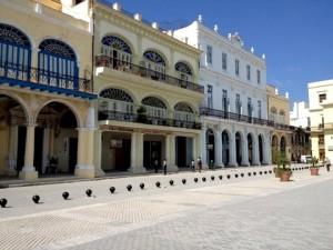 Restored buildings in  'Old Havana'