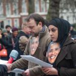 "London protest tells Obama ""Close it now', 2015. Demotix/ Peter Marshall."
