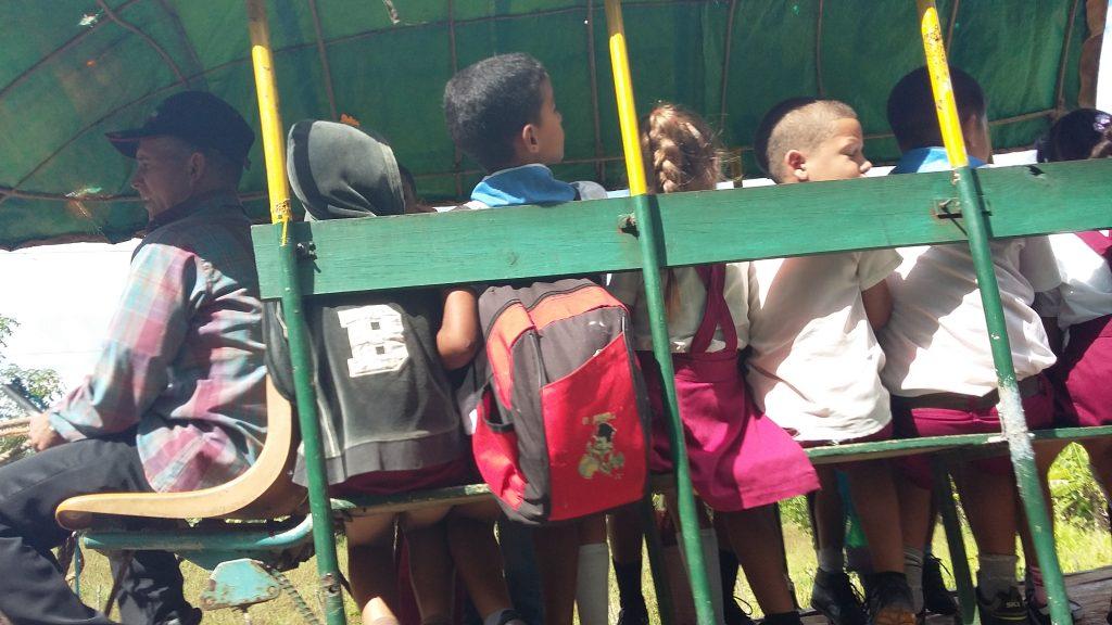 School 'bus' in La Mulata, Pinar del Rio, Cuba