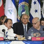 Nicaragua's President Ortega and OAS General Secretary Insulza in a 2012 summit, Managua. Photo: German Miranda/dpa/aa