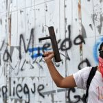 A masked man holds a homemade mortar during protests against the government of Nicaragua's Daniel Ortega. Photo: Marvin Recinos/AFP/Getty Images