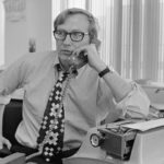 Seymour Hersh in the New York Times's Washington bureau, 1972. Photograph: Wally McNamee/ Corbis, Getty Images