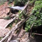 Nicaraguan police inspect an abandoned mining camp at Kiwakumbai in the Bosawás reserve. Photo: www.tortillaconsal.com